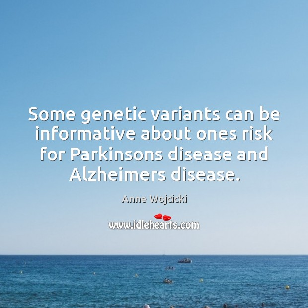 Image, Some genetic variants can be informative about ones risk for Parkinsons disease