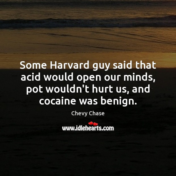 Image, Some Harvard guy said that acid would open our minds, pot wouldn't