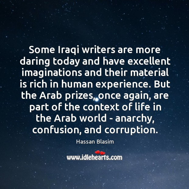 Image, Some Iraqi writers are more daring today and have excellent imaginations and