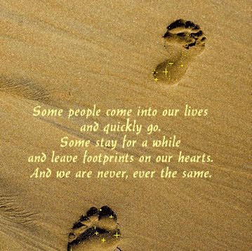 Image, Some leave footprints on our hearts