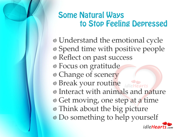Some natural ways to stop feeling depressed Image