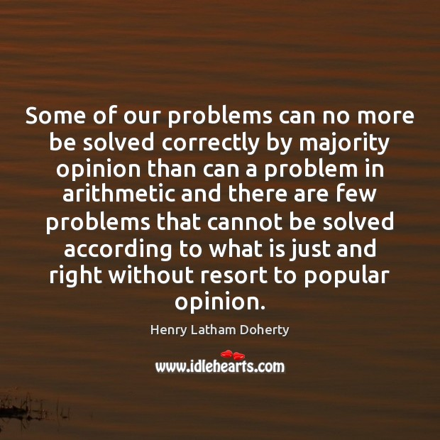Image, Some of our problems can no more be solved correctly by majority