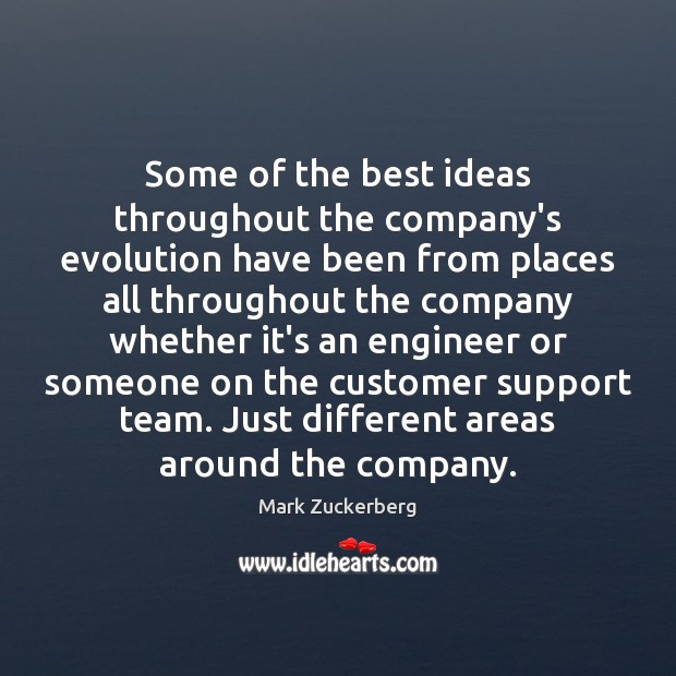 Image, Some of the best ideas throughout the company's evolution have been from