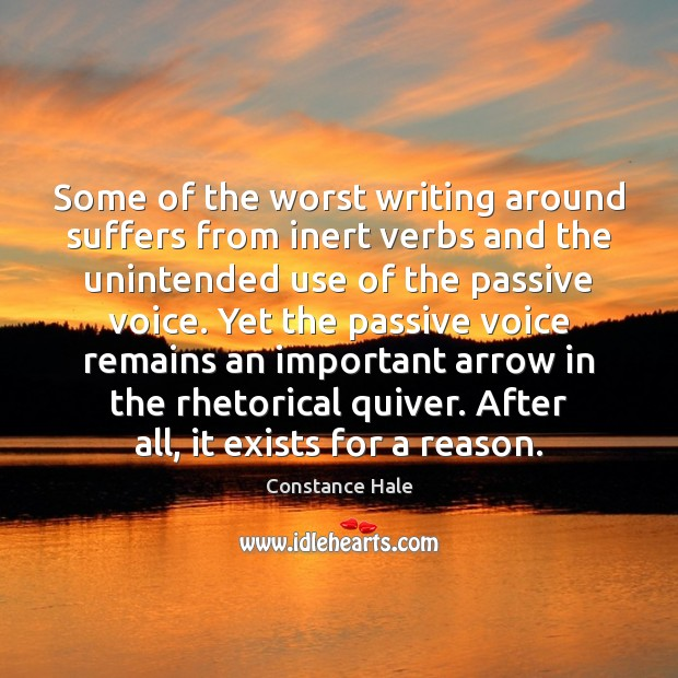 Image, Some of the worst writing around suffers from inert verbs and the