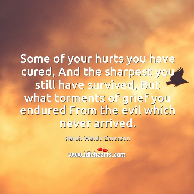 Image, Some of your hurts you have cured, and the sharpest you still have survived