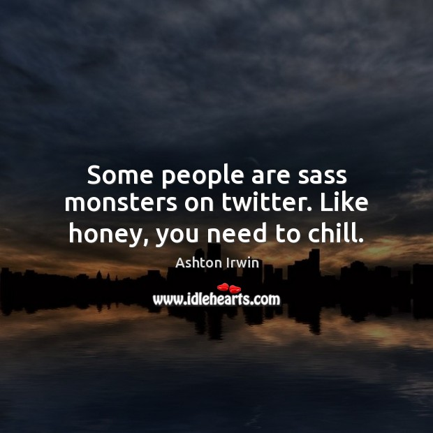 Image, Some people are sass monsters on twitter. Like honey, you need to chill.