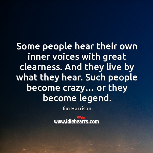 Some people hear their own inner voices with great clearness. Image
