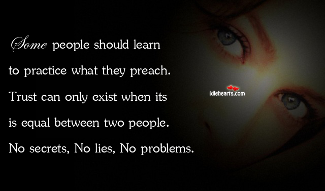Some people should learn to practice what they preach Image