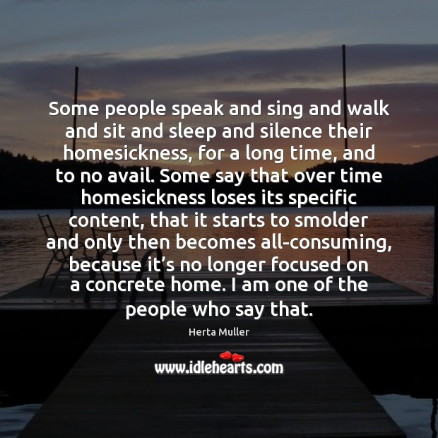 Some people speak and sing and walk and sit and sleep and Image