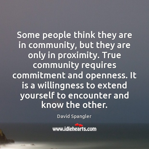 Some people think they are in community, but they are only in Image
