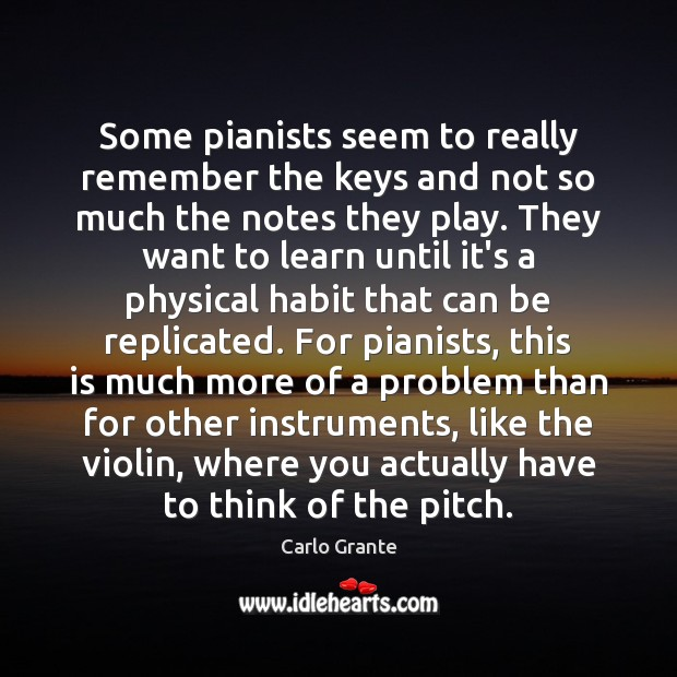Image, Some pianists seem to really remember the keys and not so much