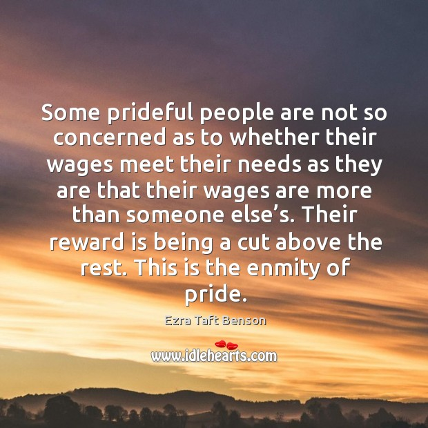 Image, Some prideful people are not so concerned as to whether their wages