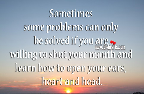 Some Problems Can Only Be Solved If You Are Willing
