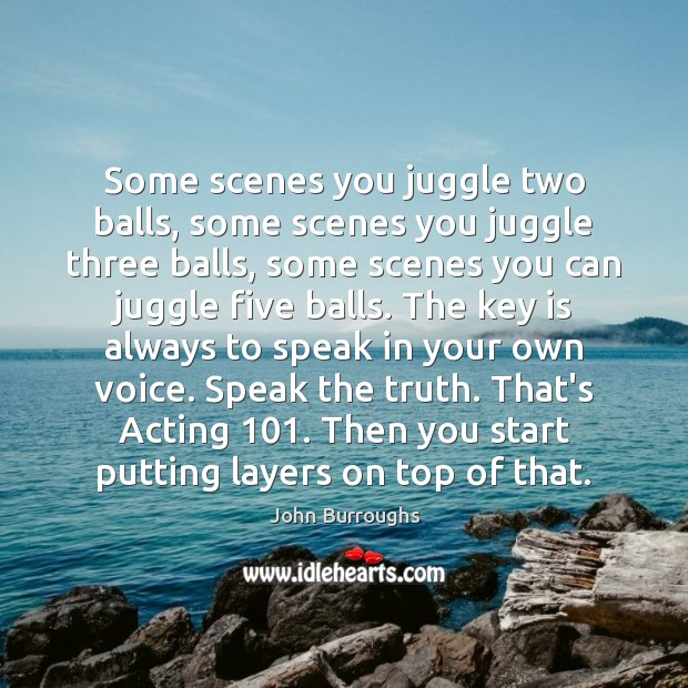 Some scenes you juggle two balls, some scenes you juggle three balls, Image