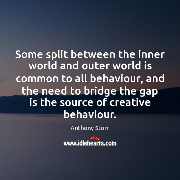 Image, Some split between the inner world and outer world is common to