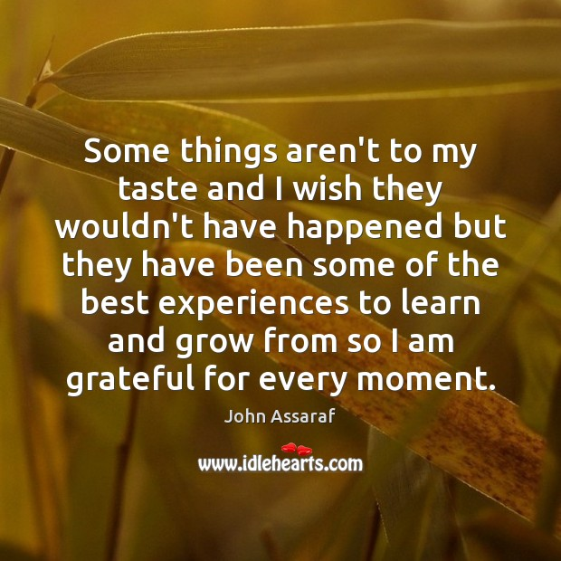 Some things aren't to my taste and I wish they wouldn't have John Assaraf Picture Quote