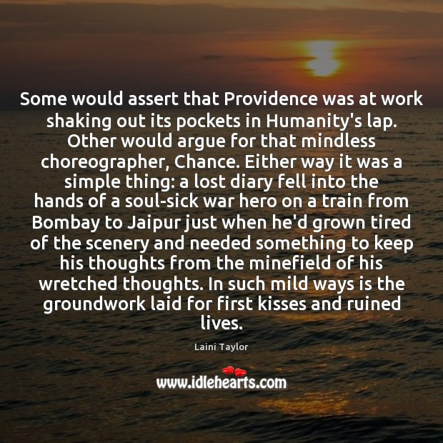 Some would assert that Providence was at work shaking out its pockets Image