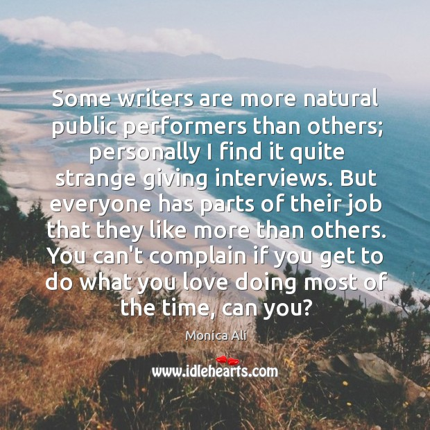Some writers are more natural public performers than others; personally I find Image
