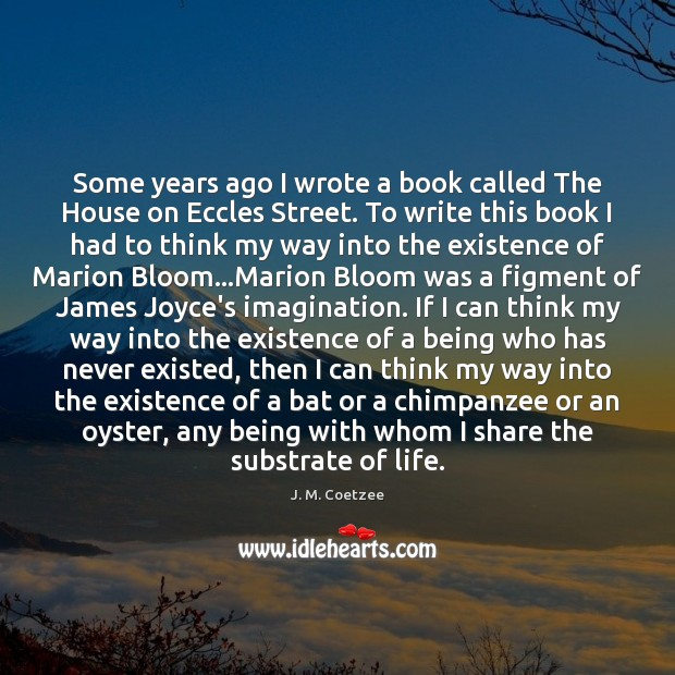 Some years ago I wrote a book called The House on Eccles Image
