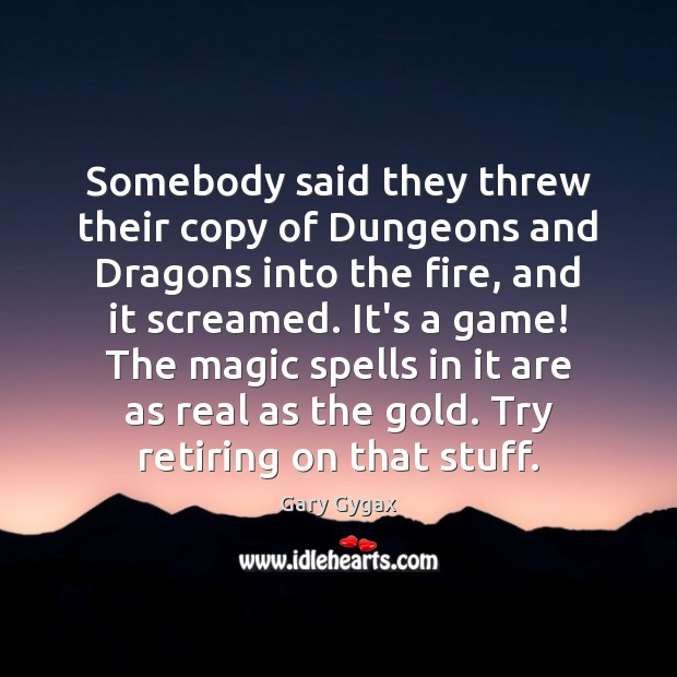 Image, Somebody said they threw their copy of Dungeons and Dragons into the