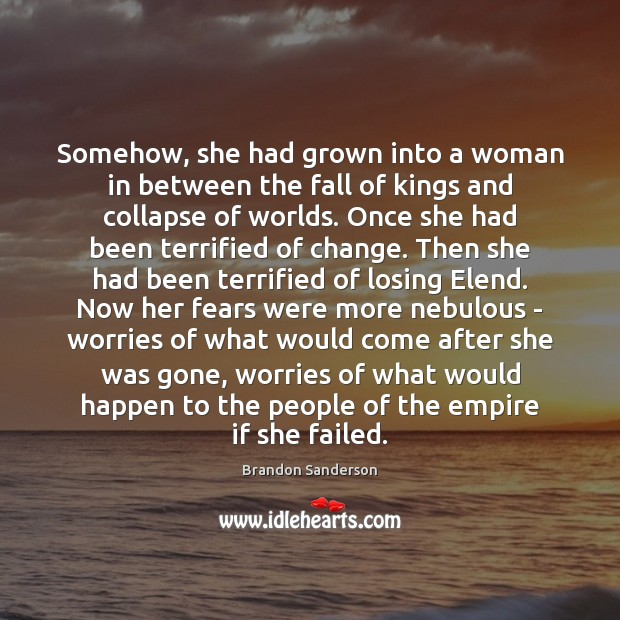 Somehow, she had grown into a woman in between the fall of Image