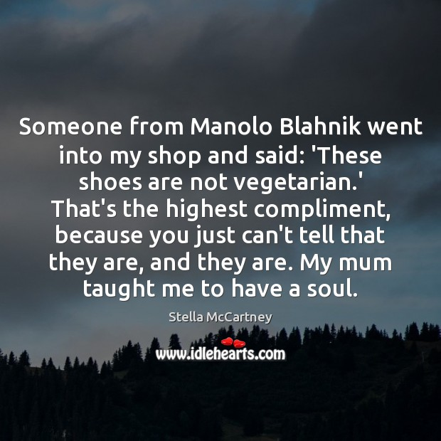 Someone from Manolo Blahnik went into my shop and said: 'These shoes Stella McCartney Picture Quote