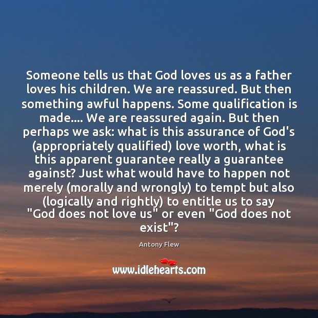 Image, Someone tells us that God loves us as a father loves his