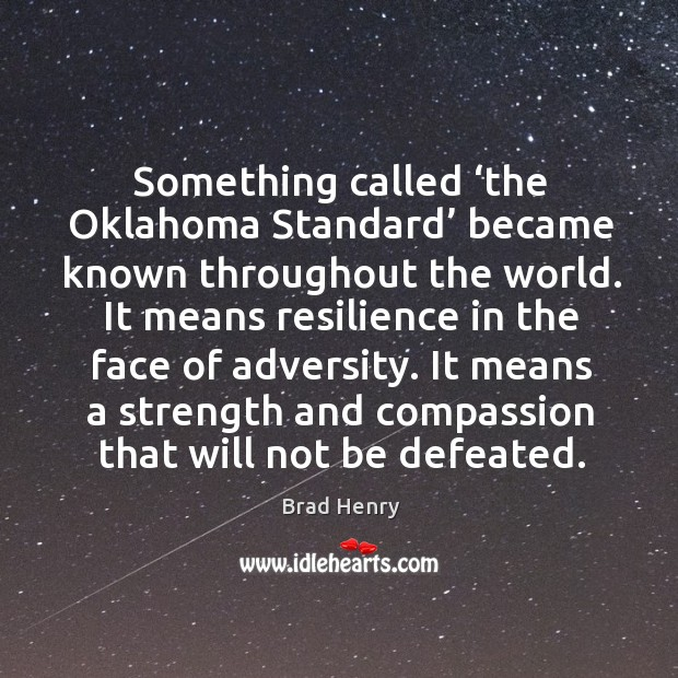 Something called 'the oklahoma standard' became known throughout the world. Image