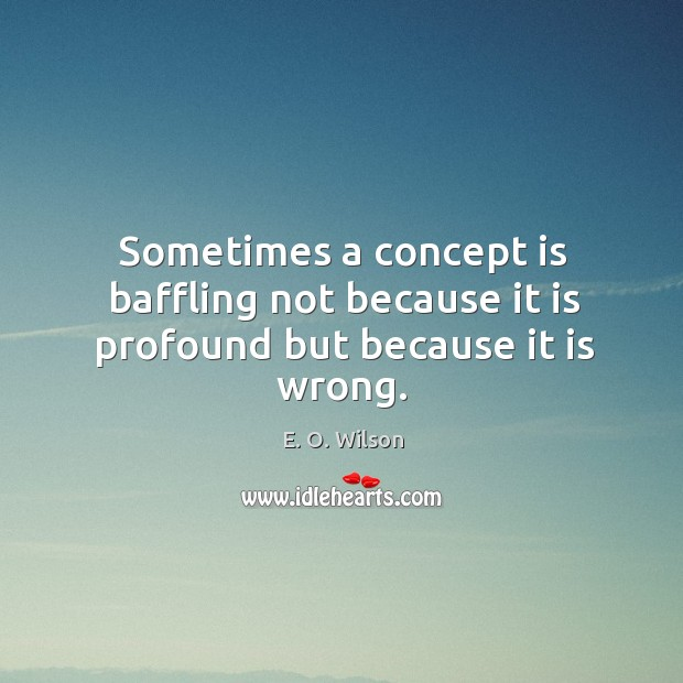 Sometimes a concept is baffling not because it is profound but because it is wrong. Image