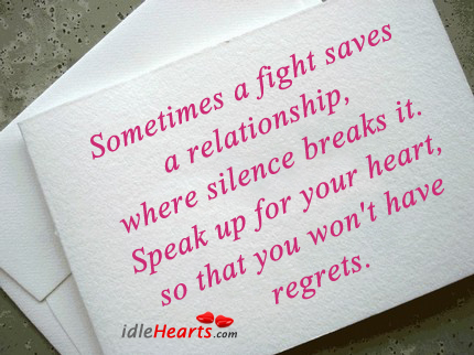 Sometimes a fight saves a relationship, where Image