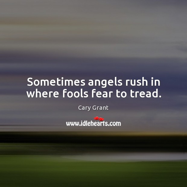 Image, Sometimes angels rush in where fools fear to tread.