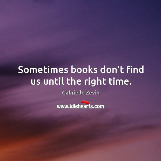 Sometimes books don't find us until the right time. Image