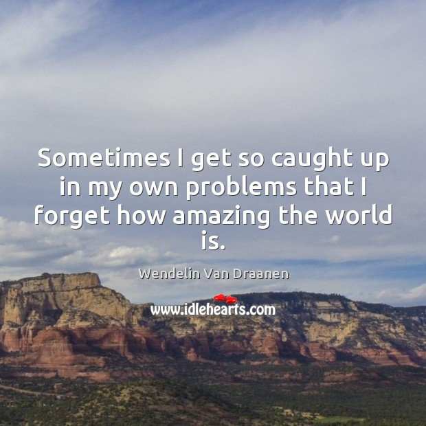 Sometimes I get so caught up in my own problems that I forget how amazing the world is. Wendelin Van Draanen Picture Quote