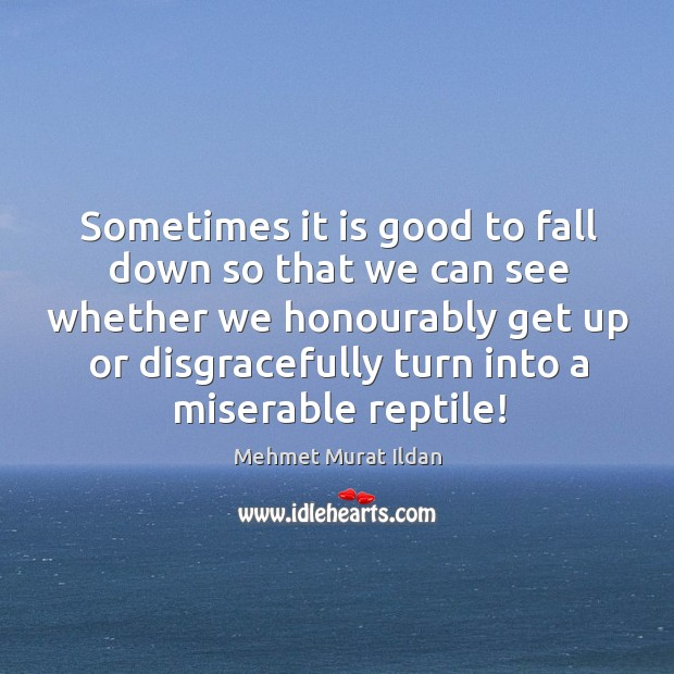 Image, Sometimes it is good to fall down so that we can see