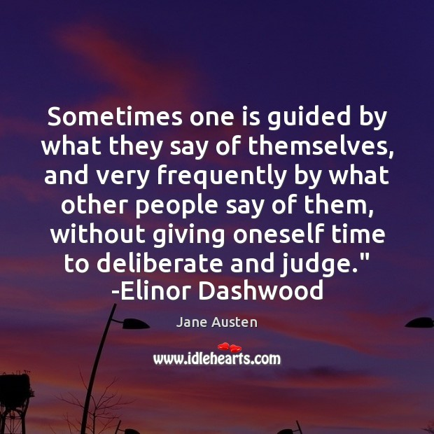 Image, Sometimes one is guided by what they say of themselves, and very