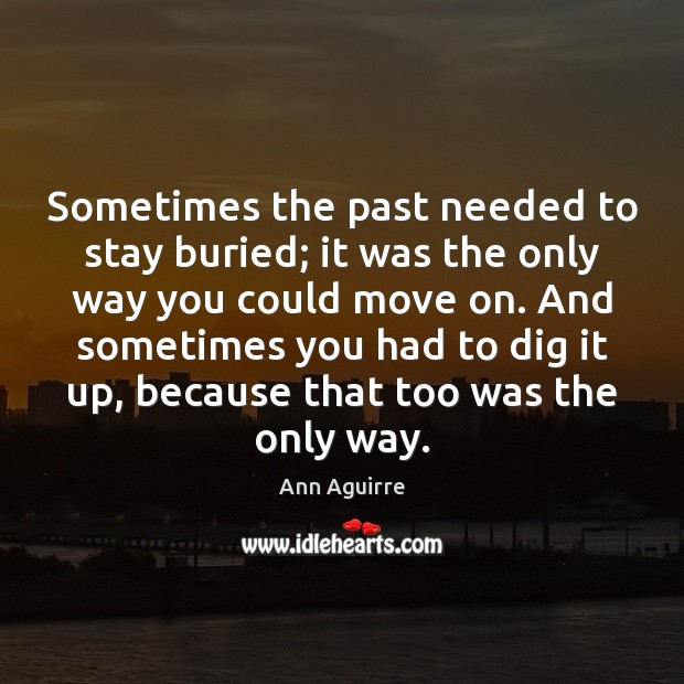 Sometimes the past needed to stay buried; it was the only way Ann Aguirre Picture Quote