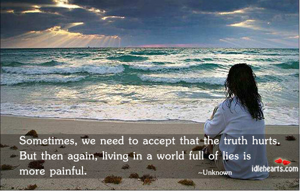 Sometimes, We Need To Accept That The…