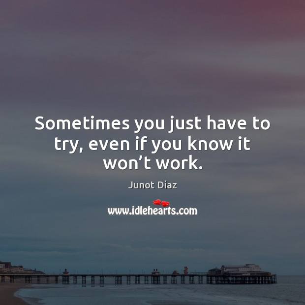 Sometimes you just have to try, even if you know it won't work. Image