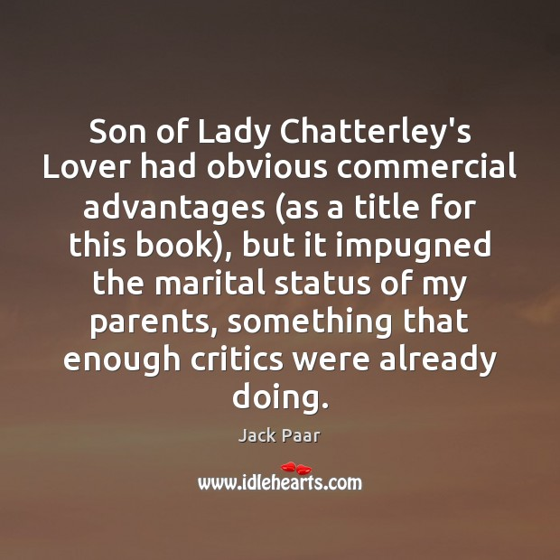 Son of Lady Chatterley's Lover had obvious commercial advantages (as a title Image