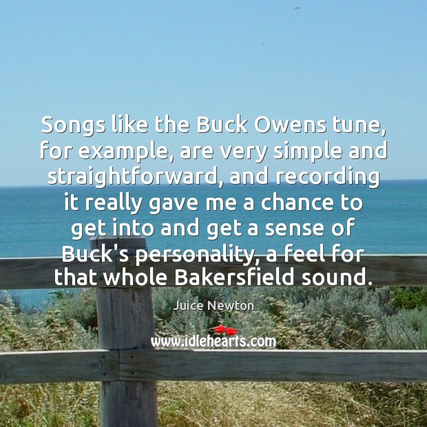 Image, Songs like the Buck Owens tune, for example, are very simple and
