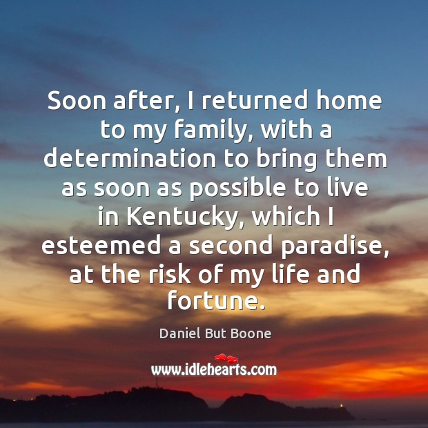 Image, Soon after, I returned home to my family, with a determination to bring them as soon