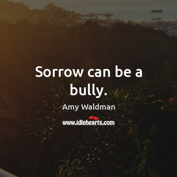 Sorrow can be a bully. Amy Waldman Picture Quote