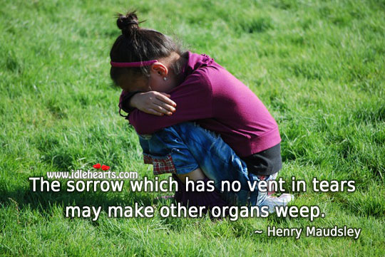 Image, Sorrow which has no vent in tears may make other organs weep.