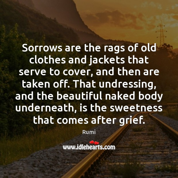 Sorrows are the rags of old clothes and jackets that serve to Image