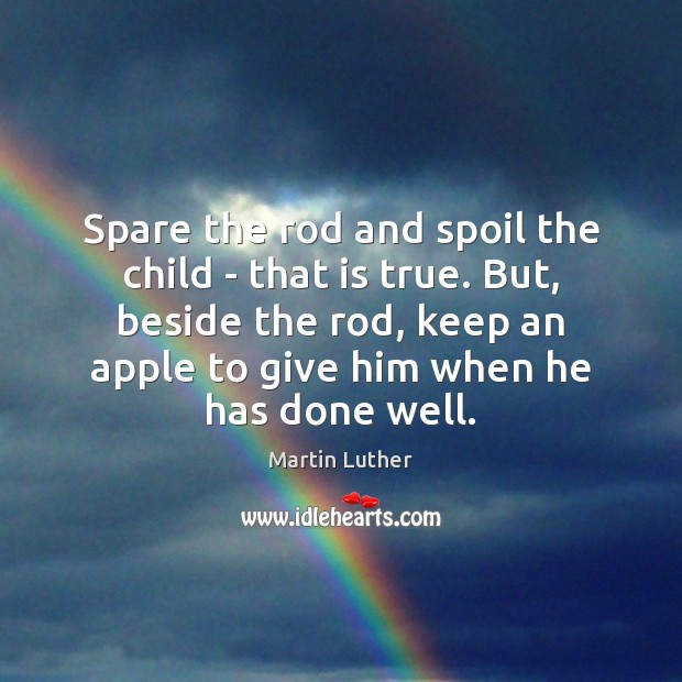 speech on spare the rod and spoil the child