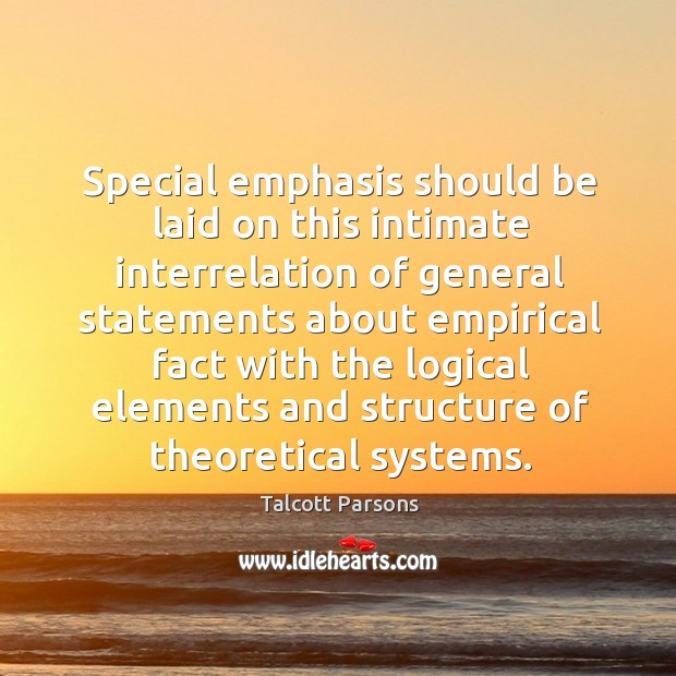 Special emphasis should be laid on this intimate interrelation of general statements Image