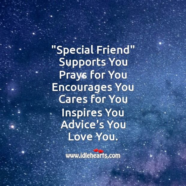 """special friend"" Friendship Day Messages Image"
