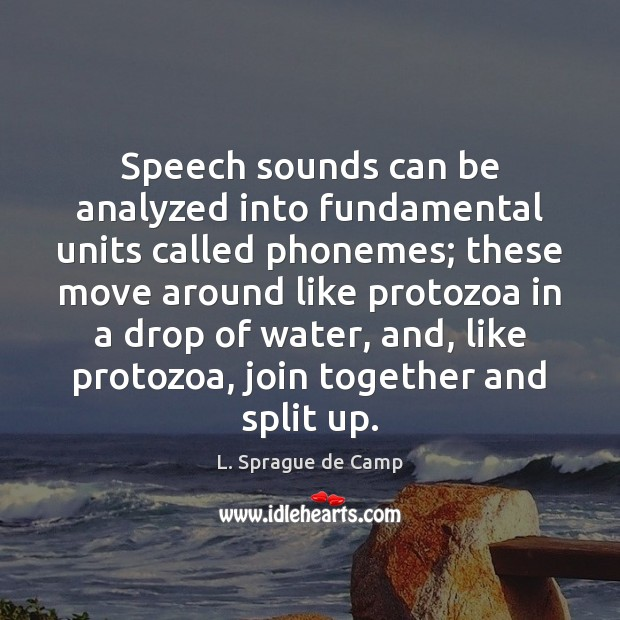 Image, Speech sounds can be analyzed into fundamental units called phonemes; these move