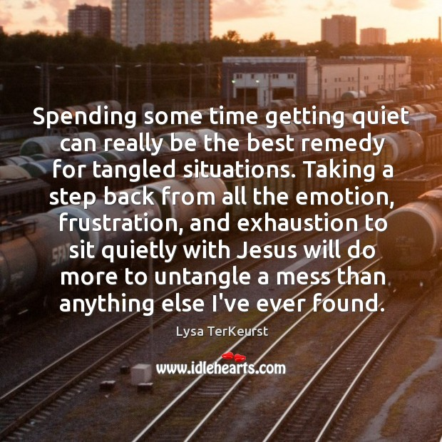 Image, Spending some time getting quiet can really be the best remedy for