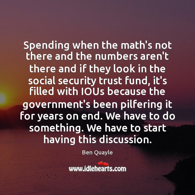 Image, Spending when the math's not there and the numbers aren't there and